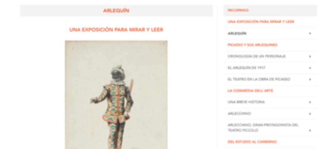 Exposición digital en la web del Museo
