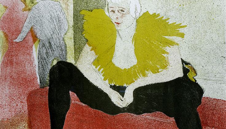la payasa sentada, Mademoiselle Cha-U-Kao (1899) Henri Toulouse Lautrec