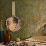 Self portrait in a mirror